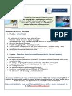 Job Vacancies at Kuredu Island-Guest Services111616
