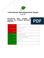 CP-190 - Quality Management System for Project Delivery