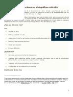 Cómo Elaborar Citas y Referencias Bibliográficas Estilo APA