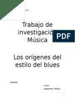 Trabajo de Investigación Música