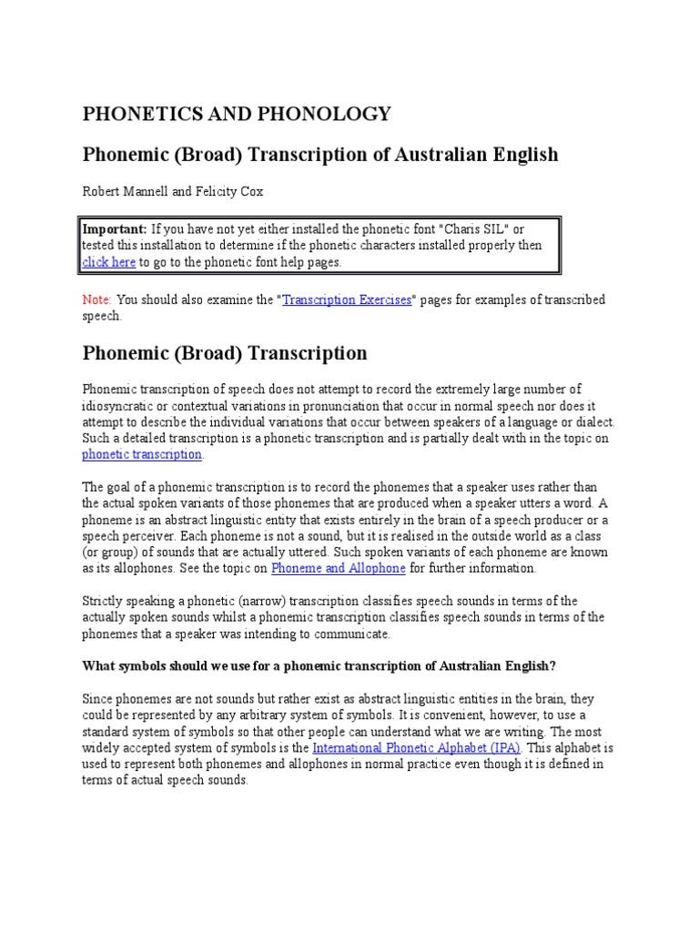 Phonetics And Phonology Syllable Consonant