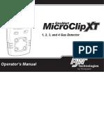 GasAlertMicroClip XT OperatorsManual(50120681 001 en A1)