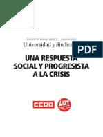 Una Respuesta Social y Progresista a La Crisis