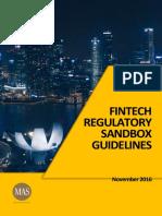 FinTech Regulatory Sandbox Guidelines