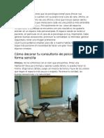 Ideas Para Renovar Tu Gabinete de Psicología y Darle Un Toque Más Acogedor