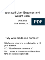 9 13 06 Siebers Elevated LFTs and Weight Loss