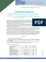 Cantabria Normativa Extracción de Cebo Pesca Mar 2016
