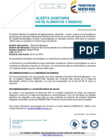 Alerta Sanitaria Salchicha Manguera Presencia de Listeria Monocytogenes