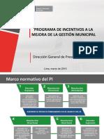 Programa de Incentivos 2016
