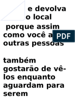 Leia e Devolva No Local