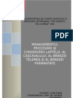 Managementul Conservarii -Procesare-lapte