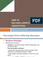 Unit 4 Factors Affecting Drug Absorption