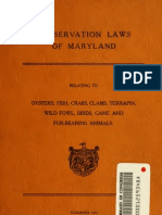 (1916) Conservation Laws of Maryland Relating to Oysters