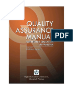 A Manual of Quality Assurance in Higher Education1