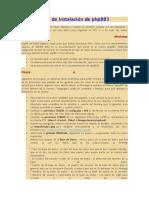 Guía de Instalación de PhpBB3