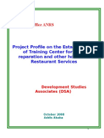 Training Center for Food Preparation and Other Hotel and Restaurant Services