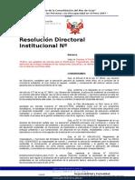 Resolucion de Comité Ambiental Iiee 2016