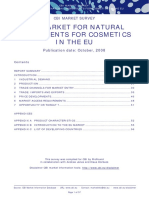 El Mercado de Ingredientes Naturales Para Cosmeticos en La UE