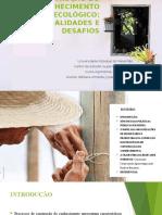Políticas Públicas e a Construção Do Conhecimento Agroecológico
