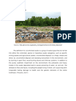 Uncontrolled Dumping and Leachate Treatment Plant