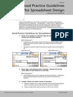 Excel 2003 Spreadsheet Design Good Practice Guidelines