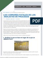 Los 5 Errores Fatales de Los Analistas de Procesos