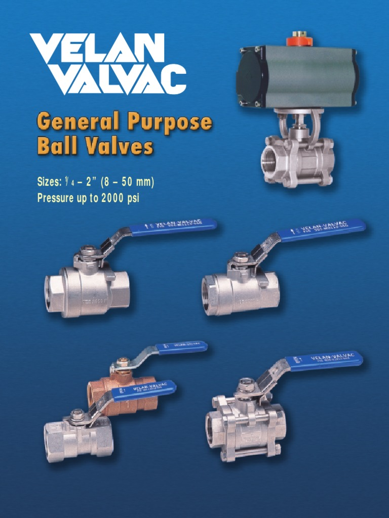 Velan Screwed Ball Valve Catalog