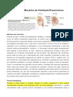 Mecânica Da Ventilação e Pneumotórax