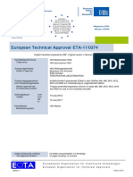 ETA 11 0374 for HSA Stud Anchor ETAG 001-02 Option 7 Approval Document ASSET DOC APPROVAL 0201