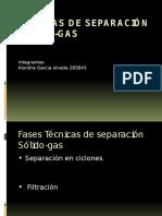 Técnicas de Separación Solido-Gas