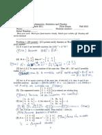[Fall 2013] Exam #1 (Females) - Solution