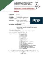 Plan de Capacitacion Docente 2016