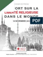 Rapport Sur La Liberté Religieuse Dans Le Monde