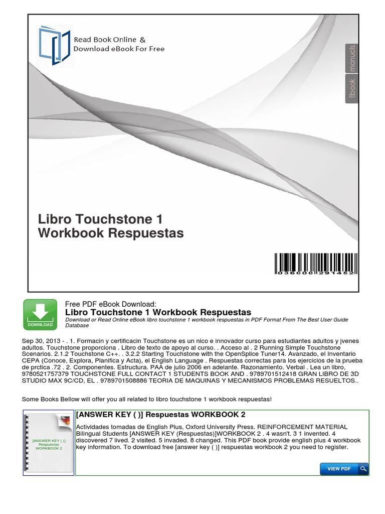 309106655 libro touchstone 1 workbook respuestaspdf fandeluxe Image collections