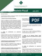 Boletin Fiscal Julio 2016