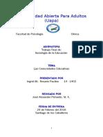 TRABAJO FINAL DE SOCIOLOGIA DE LA EDCUACION.doc