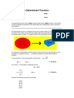 The Determinant Function