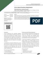 (Case Report) a Simplified Approach to Semi-Precision Attachment