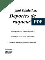 Unidad Didáctica Deportes de Raqueta
