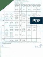 Class Schedule Term V