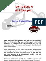 Como construir uma mini chopper