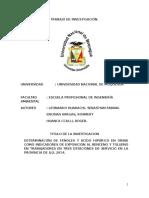 DETERMINACION DE BTX EN ILO