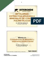 Concentracion de Minerales, C. Vargas