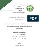 USO DE LAS LEYES DE LOS GASES EN LA DETERMINACION DE HIDROGENOCARBONATO DE SODIO EN UNA MUESTRA DE ALKA-SELTZERUSO DE LAS LEYES DE LOS GASES EN LA DETERMINACION DE HIDROGENOCARBONATO DE SODIO EN UNA MUESTRA DE ALKA-SELTZER