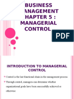 5 Managerial Control