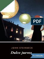 Dulce Jueves - John Steinbeck