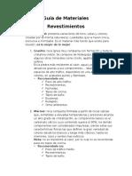 Guía de Materiales