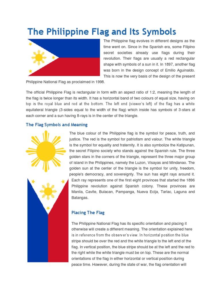 The Philippine Flag And Its Symbols Symbols Geometry