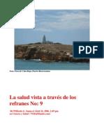 La Salud Vista a Traves de Los Refranes, del libro LSVADLR