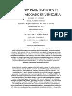 Abogados Para Divorcios en Caracas Abogado en Venezuela